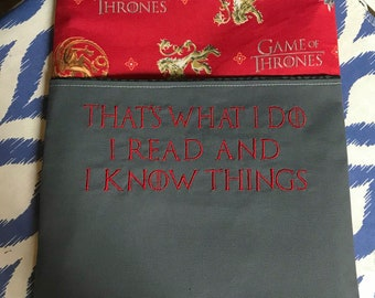 RTS Games of Thrones Inspired Book Sleeve Tablet Sleeve