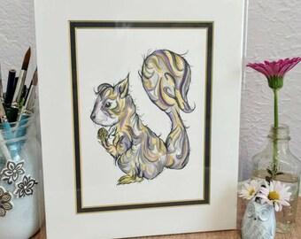 Lavender Squirrel Print