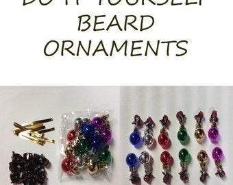 DIY Beard Ornaments Kit Set of 12 Beard Clips Beard Art Baubles For the Beard Baubles for the Beard