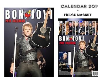 Bon Jovi Calendar 2019 + Bon Jovi Fridge Magnet