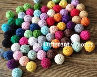 Wooden Beads Crochet*20mm* 100%COTTON