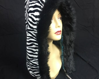 Lacey Zebra Reversible Hood