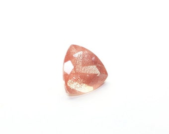 Oregon Sunstone Faceted Trillion 8 MM Peach Pink Schiller Grade Ponderosa Semi Precious Gemstone