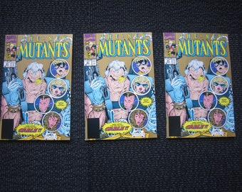 New Mutants #87 - 1st appearance Cable - gold print NM
