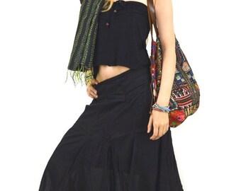 boho skirt long tulle skirt hippie skirt maxi skirt pleated skirt bohemian skirt hippie clothes festival clothing boho clothing Gypsy skirt