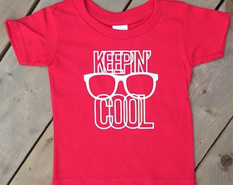 Keep Cool Toddler Tshirt, glasses, hipster