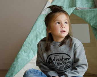 Adventure Always Kids Sweatshirt
