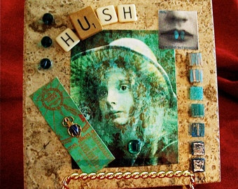 Hush - Original Tile Collage