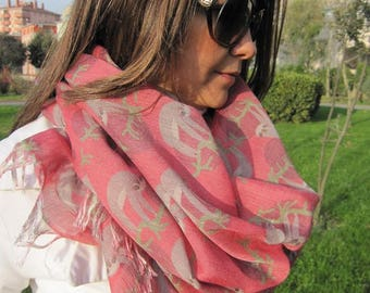 Sloth scarf EXPRESS SHIPPING - Holiday Fashion - Christmas Gift - Fashion Accessory -Women Accessory-animal scarves/Gift Unisex mens scarves