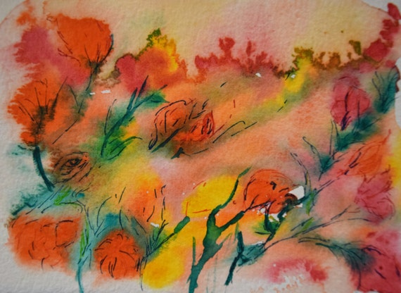 Watercolor painting, Summer