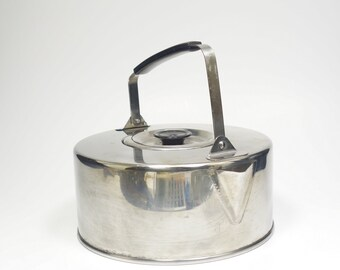 Vintage Ever New 40 oz. 1.18L 18-8 Stainless Steel Lightweight Camping Hiking Kettle Teapot Coffeepot EverNew Stainless Camp Kettle Japan