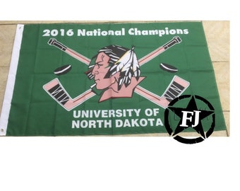 Vintage 3x5 Fighting Sioux National championship flag
