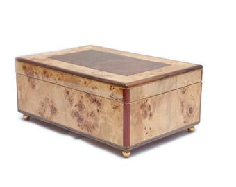 Marquetry Jewelry Box Jewellery Box Lacquered Boxes Jewelry box Antique Medieval Jewelry Box European Jewelry Box Luxury Jewelry Box