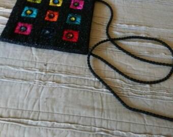 Crochet braided tote