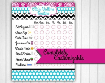Bedtime Chart, Bedtime Routine, Chore Chart
