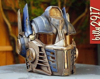 Optimus Prime Transformers Helmet Custom Paint