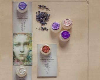 Solid Natural Perfume Sample Set of thirteen nature fragrances made with essential oils  - A zen kit of handmade, nature treasures