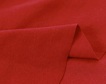 Red 1x1 Ribbing and Binding Knit Fabric, by Half Yard 77043
