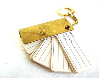 Vintage Las Vegas Golden Strip Address Keychain