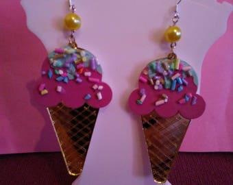 Ice cream sprinkle earrings