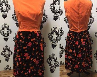 Vintage 1960's Bonwit Teller Velvet Dress sz S