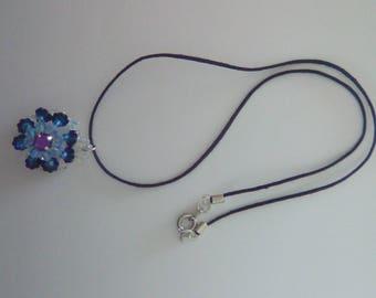 Blue Swarovski Pearl pendant necklace