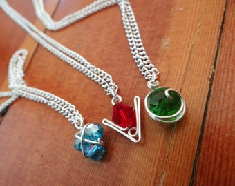 L.O.Z.® Crystal Spiritual Stone Set of 3 Necklaces (in silver)