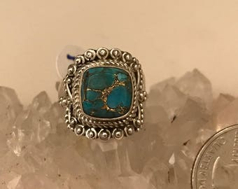 Turquoise Ring Size 7 1/2