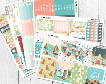 Summer Road Trip Planner Sticker Kit, June Weekly Stickers, Travel, Road Trip, for use in Erin Condren Life Planner™