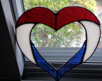 red white and blue suncatcher
