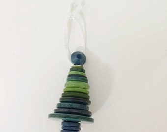 Button Christmas tree decoration