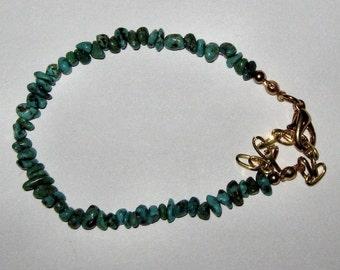 NATURAL TURQUOISE CHIP bracelet