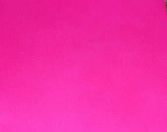 """Neon Leather 5""""x11"""" NEON Hot Pink PIGSKIN #206  2-2.5 oz / .8-1 mm PeggySueAlso™ E2531-02"""