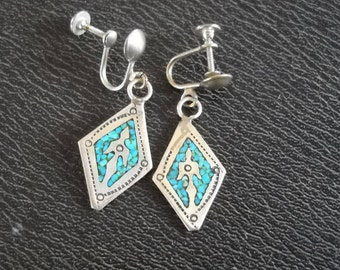 Thunderbird turquoise earrings