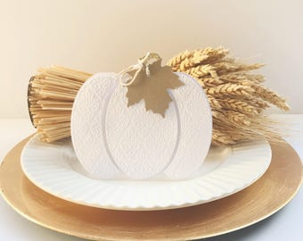 6 Thanksgiving Place Cards -  Thanksgiving Table Decor -  Place Card -  Pumpkin Place Cards -  Thanksgiving Card -  Place Card Holder