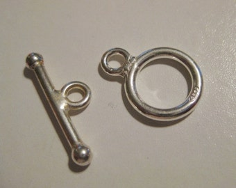 Sterling Silver Toggle Set
