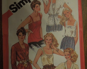 Simplicity 5352, sizes 6-8, camisoles and unlined jackets, UNCUT sewing pattern, craft supplies