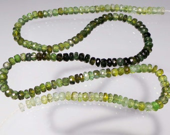 87.1 Ct 4.5-5 MM green Shaded color Natural Tourmanline Beads  SH-8