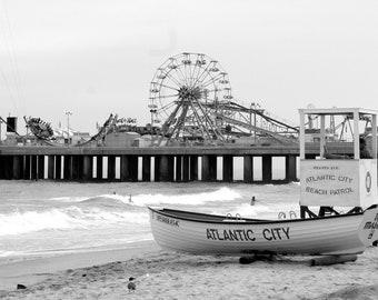 Atlantic City beach pier boardwalk boat