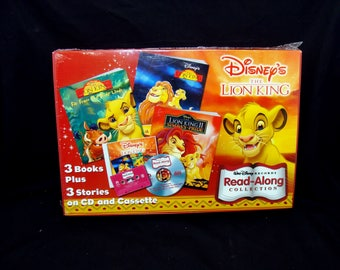 Vintage lion king book cd cassette set-sealed disney read along