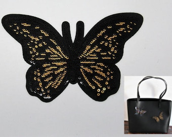 Fantasy Butterfly application black sequins and Golden clear - 16th ref