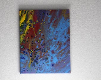 Abstract Acrylic Flow Painting - Birthday Balloons