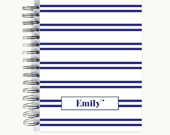 Bullet Journal – Personalized | Spiral | Dot Grid | Notebook | Double Stripe