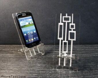Samsung Galaxy S3 S4 S5 Android Telefon Stand Docking-Station Mitte Jahrhundert moderne abstrakte Boxen