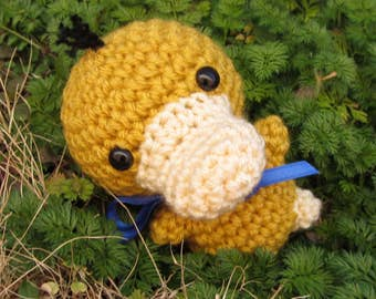 Psyduck Amigurumi - READY TO SHIP - Chibi Pokemon Crochet. Water Pokemon Plush. Psyduck Plush. Cosplay prop. Pokemon Go. Anime. Corlista