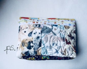 Scrappy Doggy Fabric Pouch