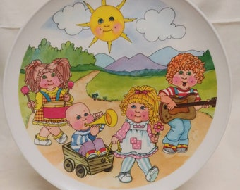 Cabbage patch kids plastic plate, 1983