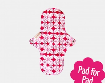 Eco-friendly reusable organic cotton cloth day pad