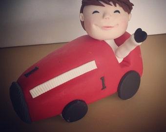 Vintage car Racing cake topper