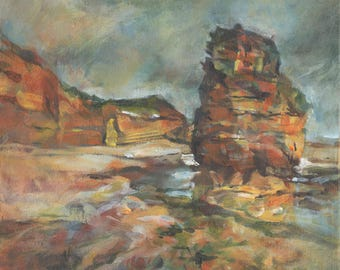 Ladram Rock (Signed, Limited Edition, High Quality Giclee Print from Original Acylic Painting)